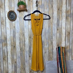 LOFT Marigold Sleeveless Fit & Flare Dress